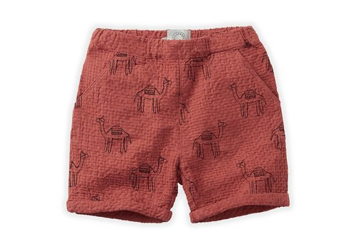 Sproet & Sprout Sproet&Sprout - Short camel print cherry red