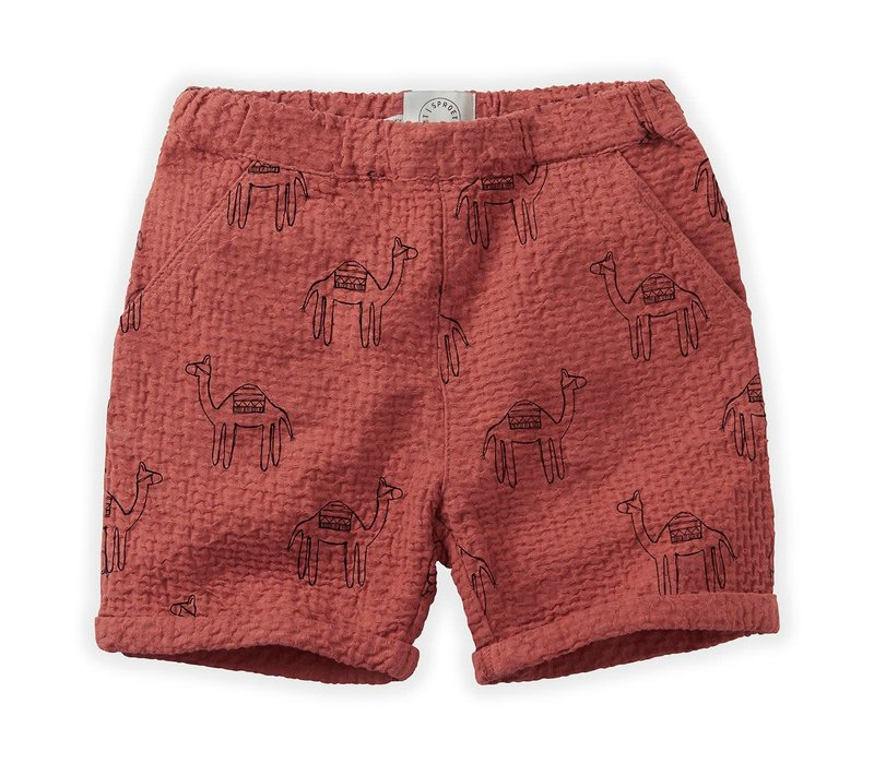 Sproet&Sprout - Short camel print cherry red