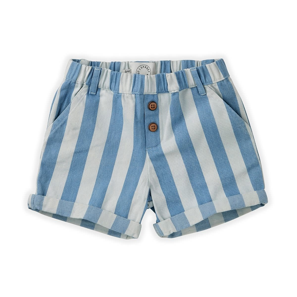 Sproet & Sprout Sproet&Sprout - Short demin stripe