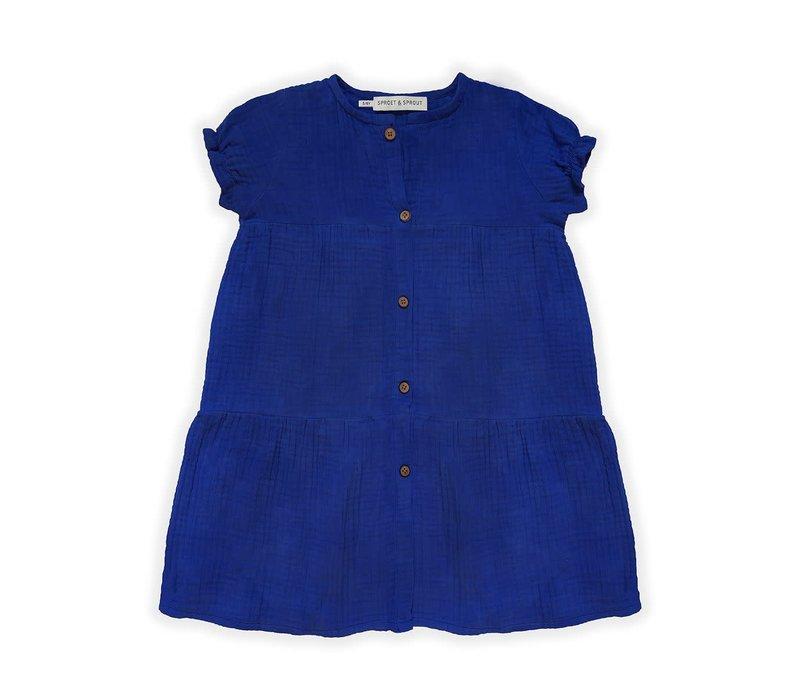 Sproet&Sprout - Dress blue cobalt - 12/18  month