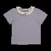 Blossom kids Blossom kids - Peterpan shirt short sleeve Lavender grey 80/86