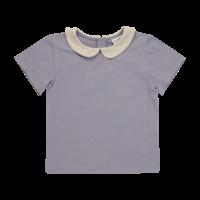 Blossom kids - Peterpan shirt short sleeve Lavender grey 80/86