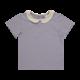 Blossom kids Blossom kids - Peterpan shirt short sleeve Lavender grey