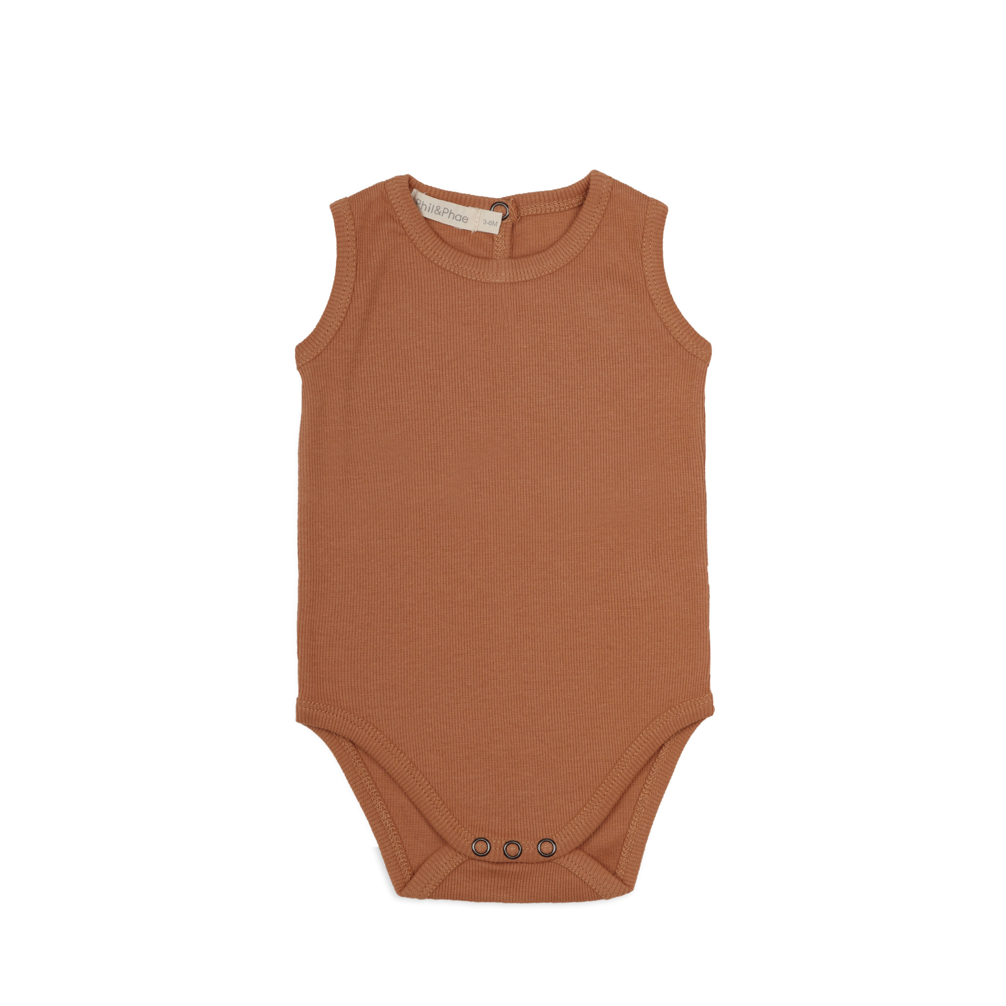 Phil&Phae Phil & Phae - Sleeveless rib body terra