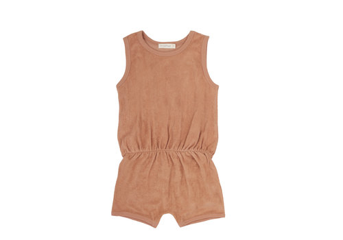 Phil&Phae Phil & Phae - Frotté playsuit warm biscuit -  3/6 month