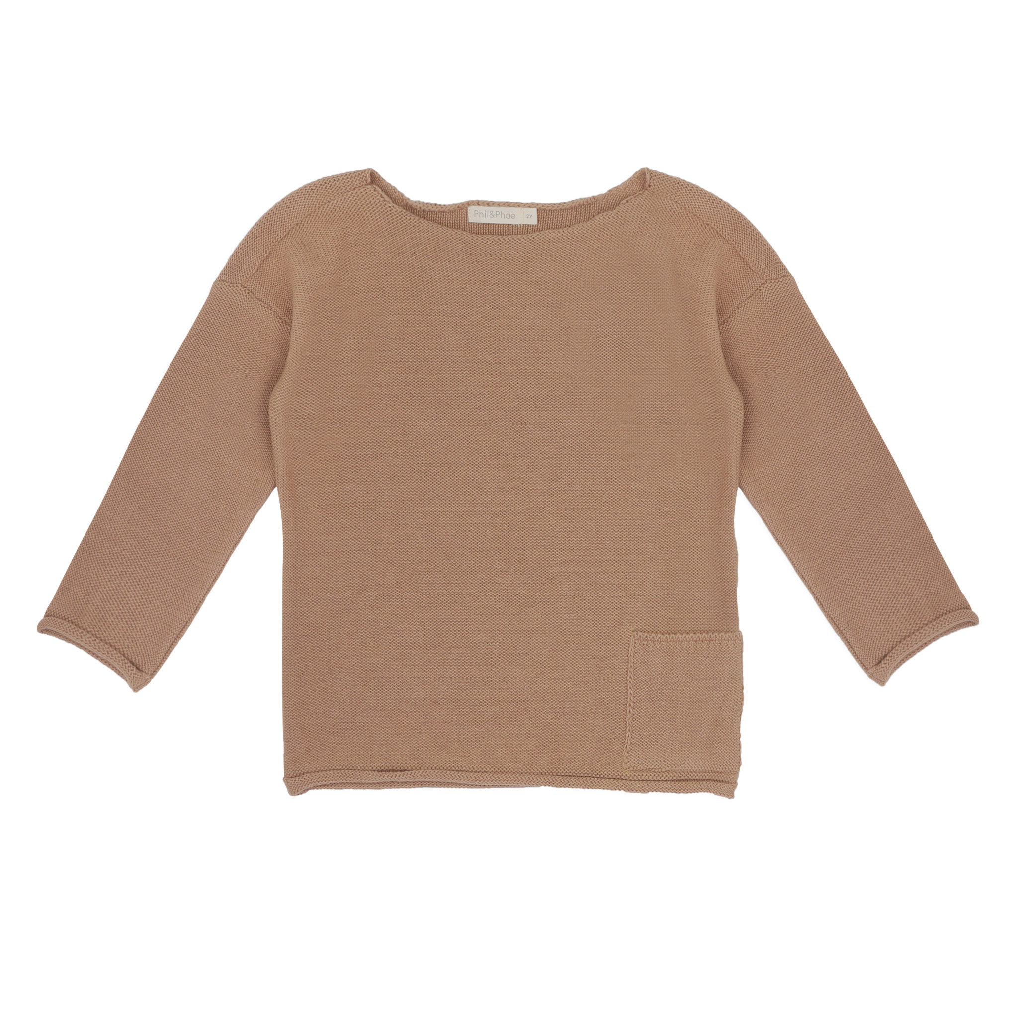 Phil&Phae Phil & Phae - Drop-shoulder knit sweater dusty nude