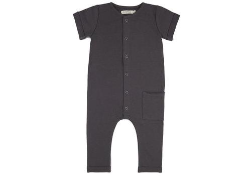 Phil&Phae Phil & Phae - Pocket jumpsuit short sleeve graphite
