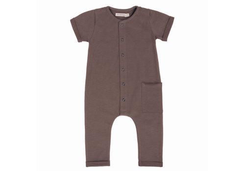 Phil&Phae Phil & Phae - Pocket jumpsuit short sleeve heather