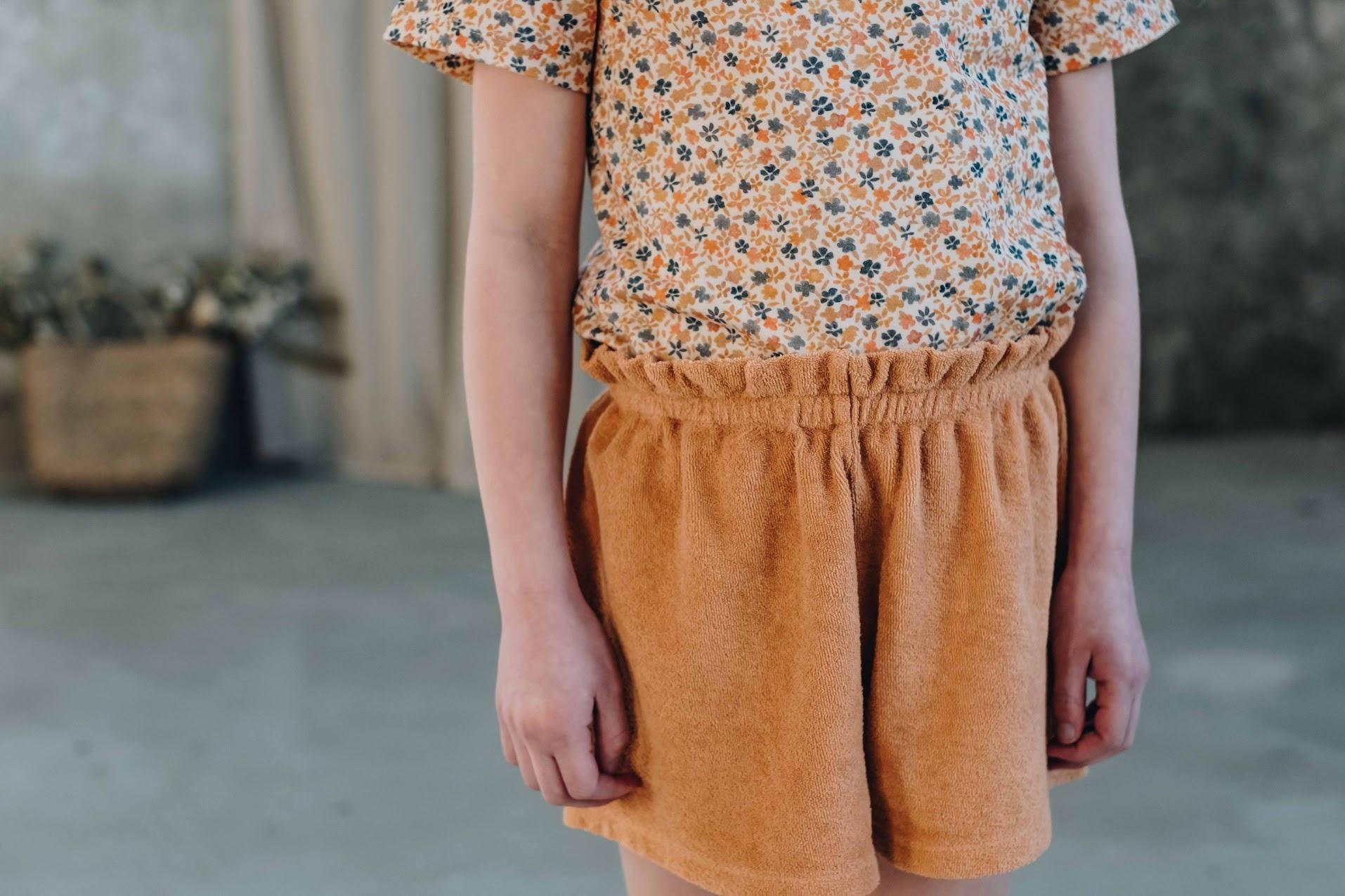 Blossom kids Blossom kids - Terry paperbag shorts Honey