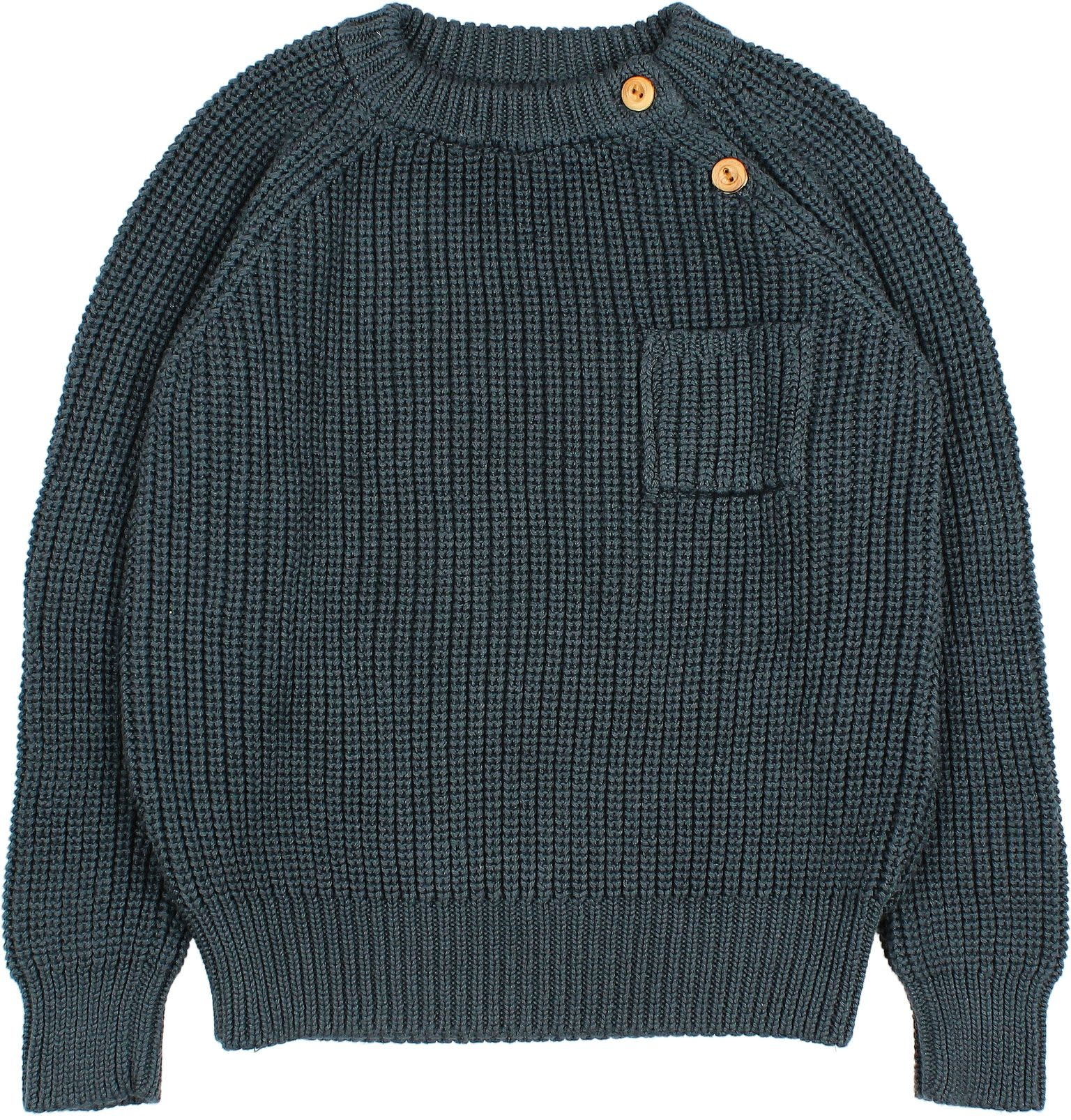 Buho Buho - 9183 Pocket knit jumper Blue night