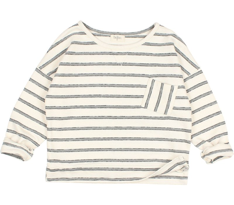 "Buho - 9185 kids ""stripes"" Sweater Cloud"
