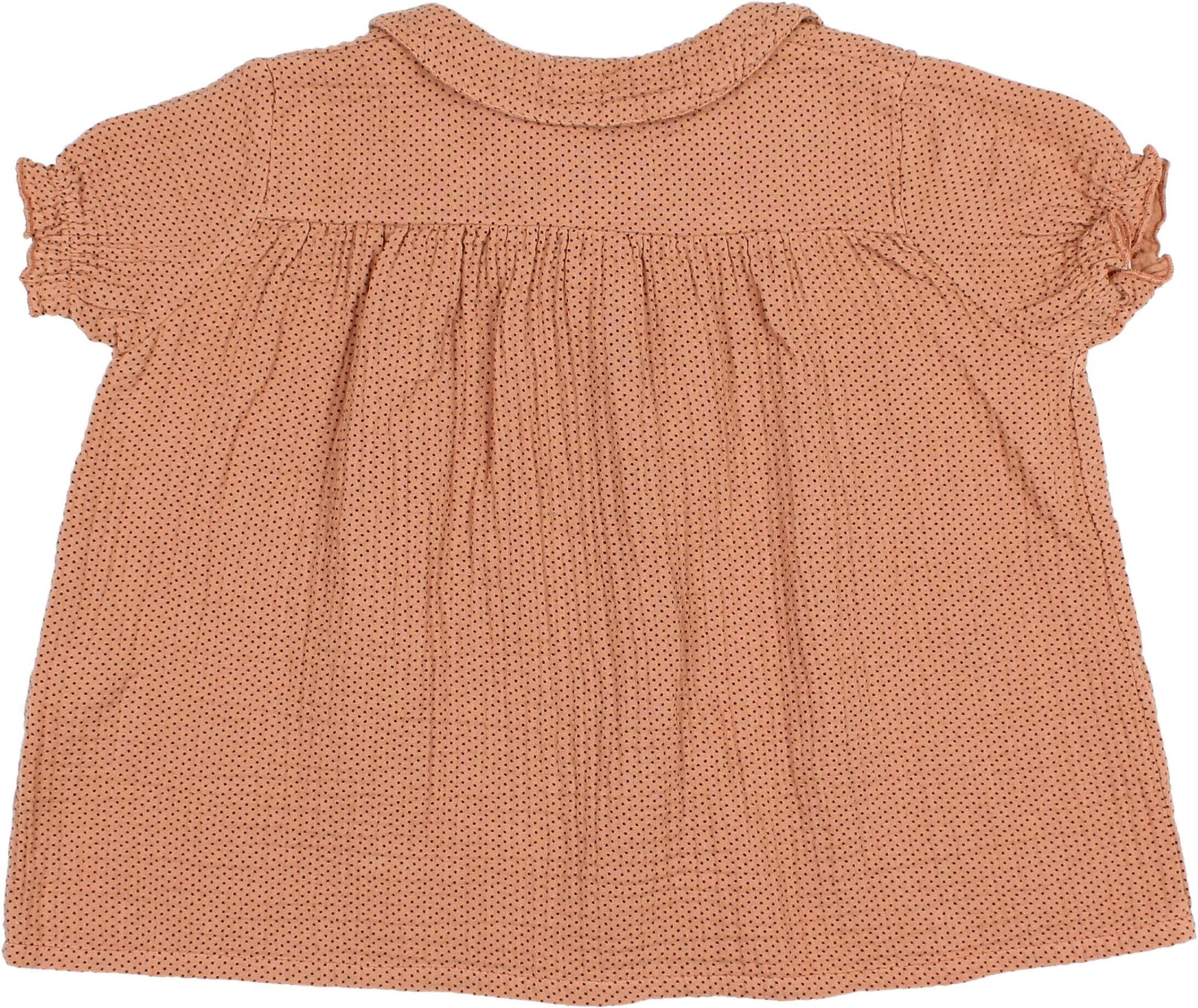 Buho Buho - 9204 Dots blouse Dark siena