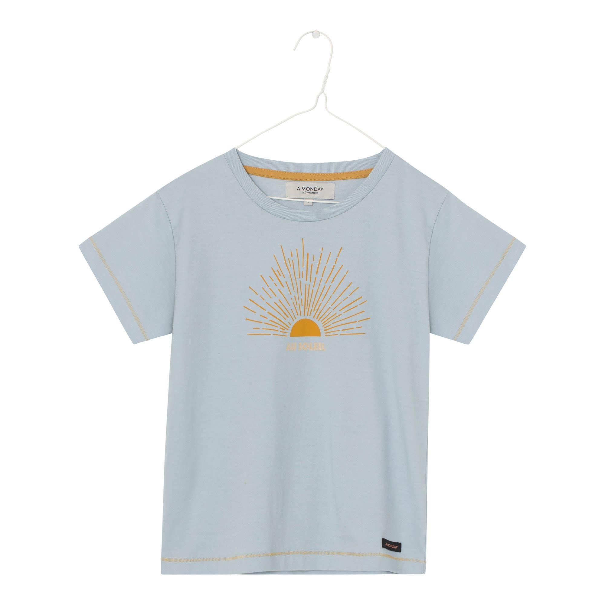A Monday A monday - Sun t-shirt pearl blue