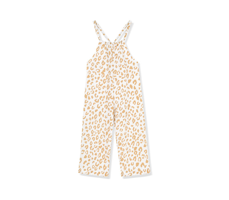 Kids on the moon - Jumpsuit golden leopard