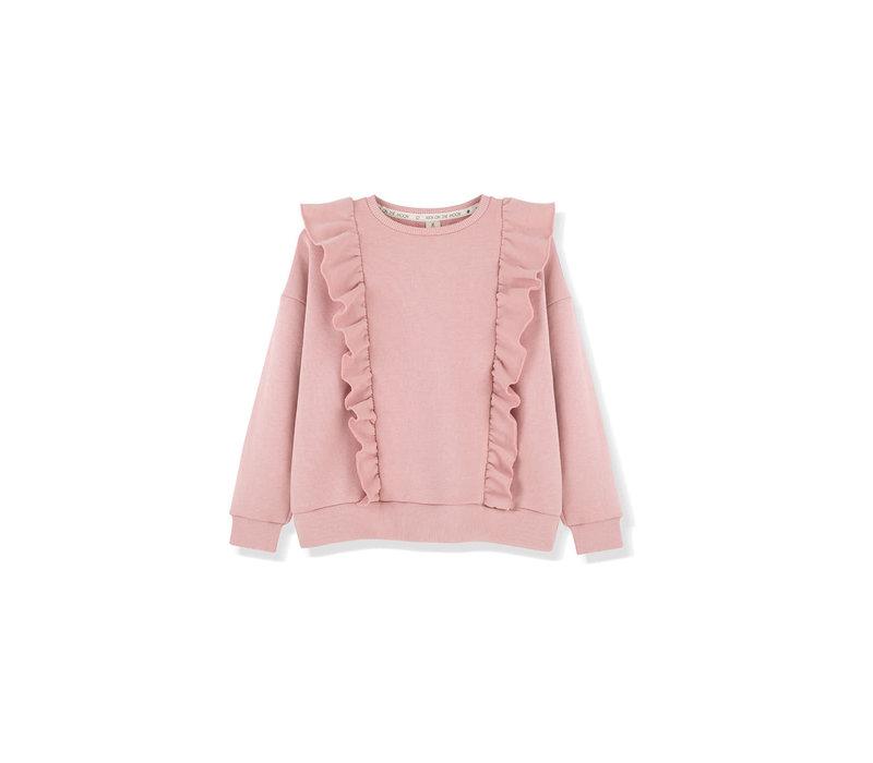 Kids on the moon - Sweatshirt mellow rose frill
