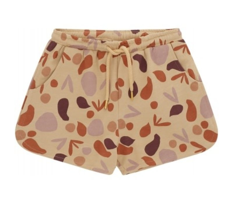 Soft gallery - Paris shorts beige aop shapes - 2 year