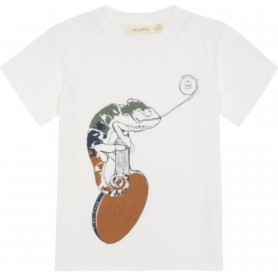 Soft Gallery Soft gallery - Norman t-shirt snow white chameleon