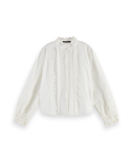 Scotch Rbelle Scotch - Cotton top with broderie anglaise 0001, 160192