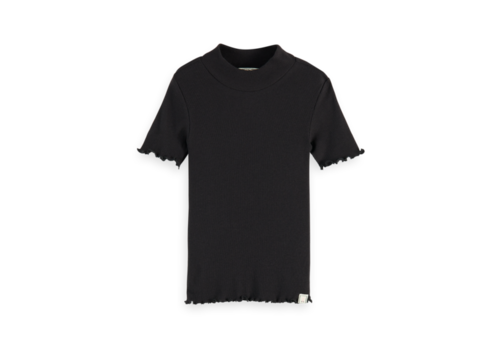 Scotch Rbelle Scotch  - Short sleeve high neck tee stripes 0008, 161296