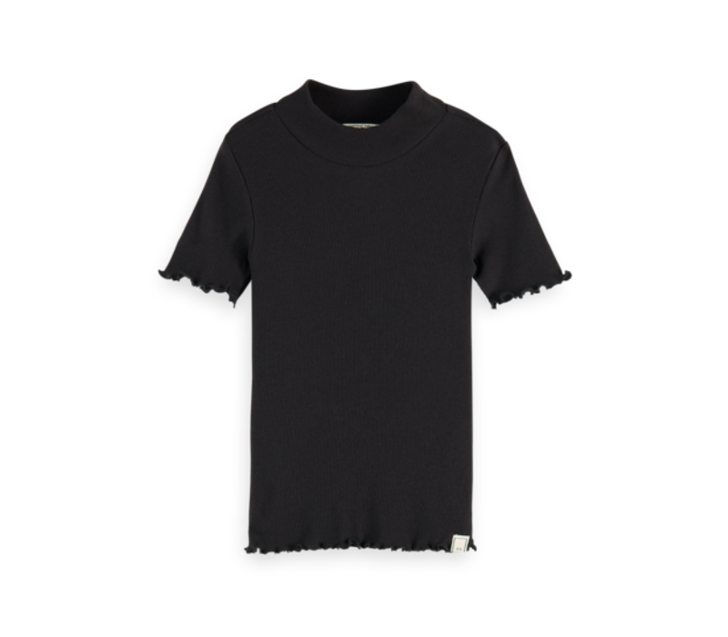 Scotch  - Short sleeve high neck tee stripes 0008, 161296 - 4 year