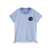 Scotch Rbelle Scotch  - Short sleeve tee with side knots 0596, 161292