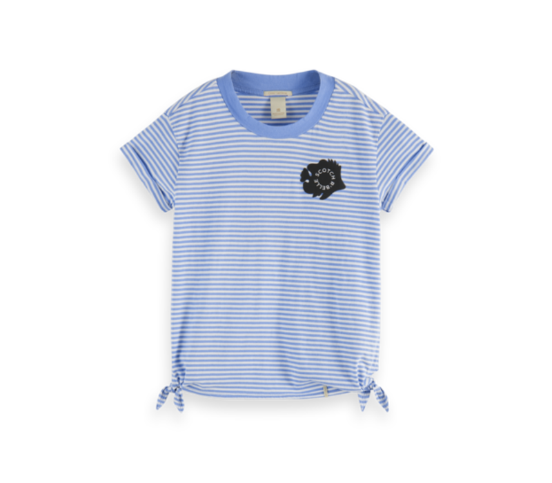 Scotch  - Short sleeve tee with side knots 0596, 161292