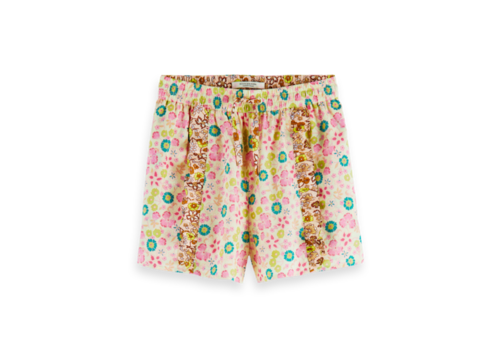 Scotch Rbelle Scotch  - Shorts with ruffle aop 0222, 161263