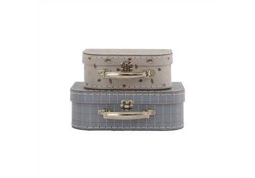 Oyoy OYOY - Mini Suitcase Tiger & Grid - Set of 2