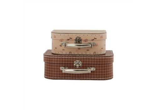 Oyoy OYOY - Mini Suitcase Rainbow & Grid - Set of 2