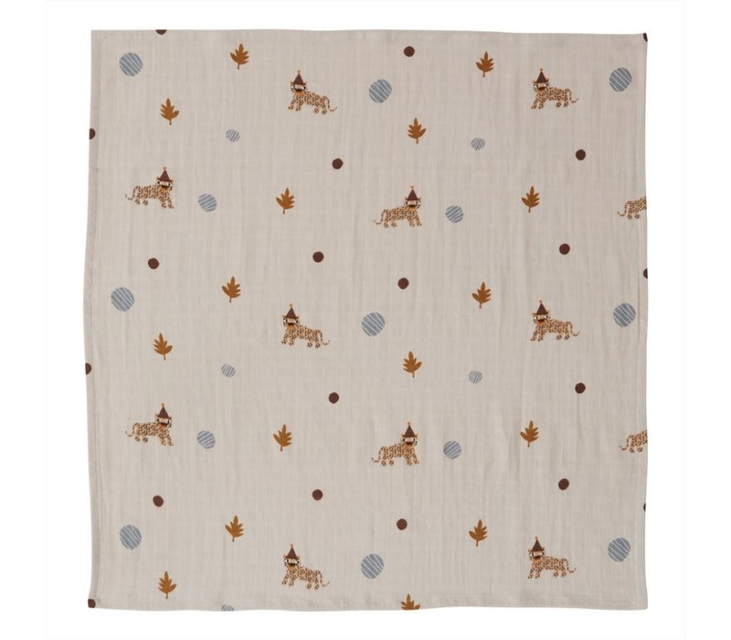 OYOY - Muslin Square - Leopard - Pack of 3