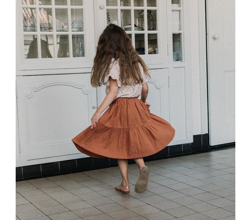 Petit blush - Lewis frill skirt sierra