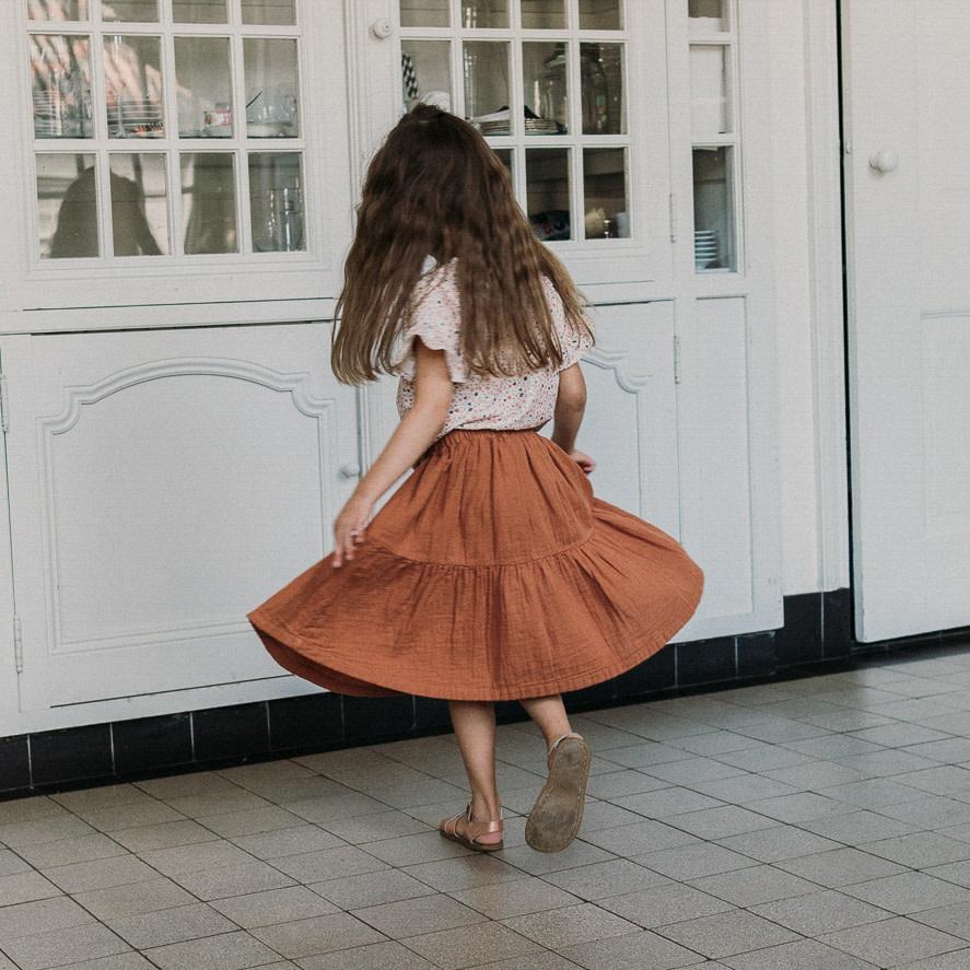 Petit Blush Petit blush - Lewis frill skirt sierra