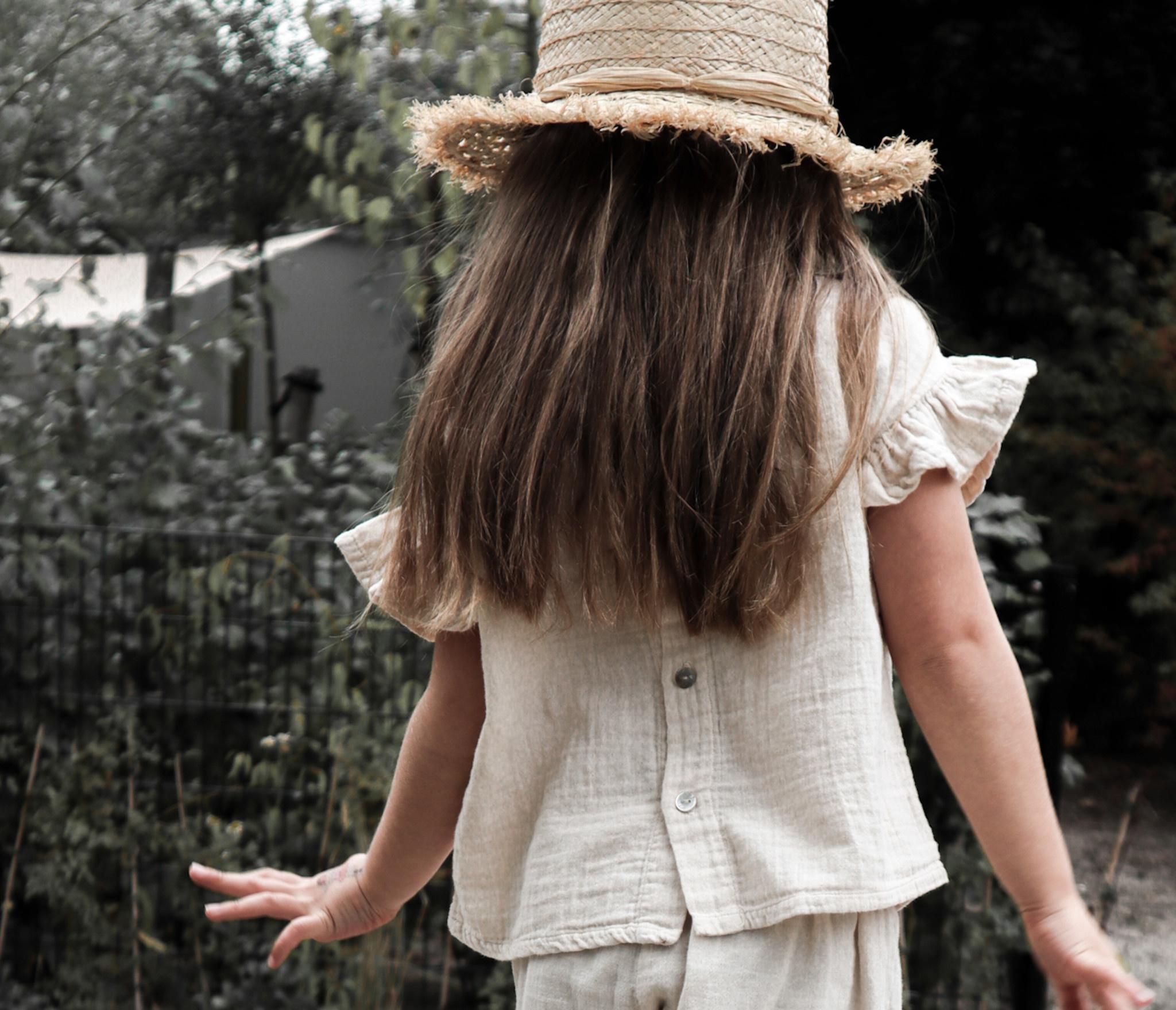 Petit Blush Petit blush - Loua frill blouse sandshell