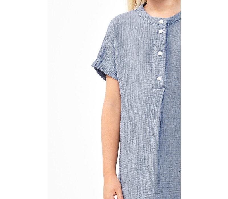 By-Bar - Girls otty dress foggy blue