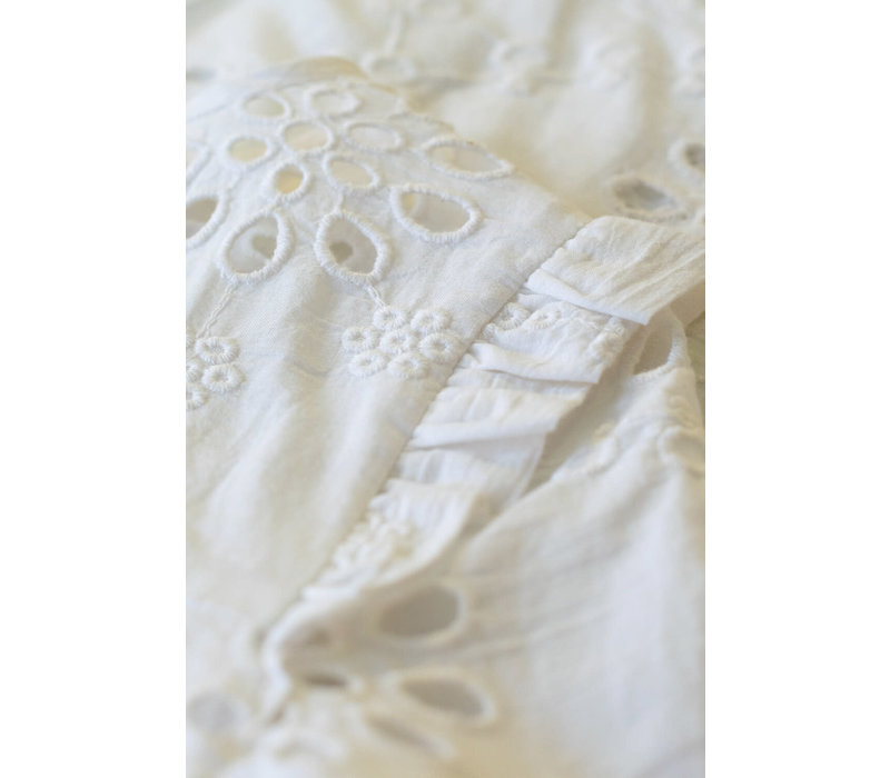 By-Bar - Girls mila blouse embroidery off white