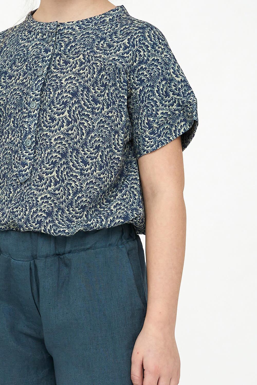 By-Bar By-Bar - Girls bo blouse botanic blue