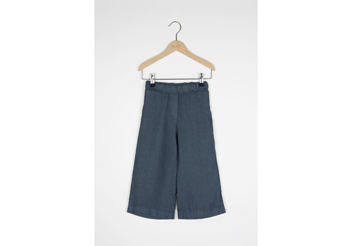 By-Bar By-Bar - Girls ines linen pant oil blue
