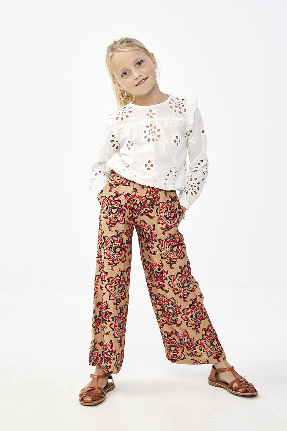 By-Bar By-Bar - Girls mila blouse embroidery off white