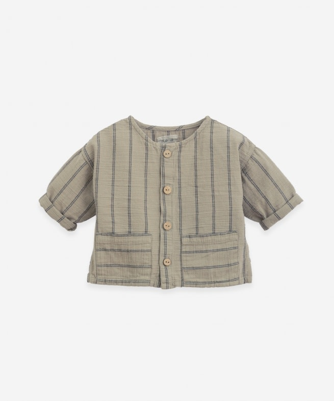 Play Up Play up - Striped woven shirt P7154