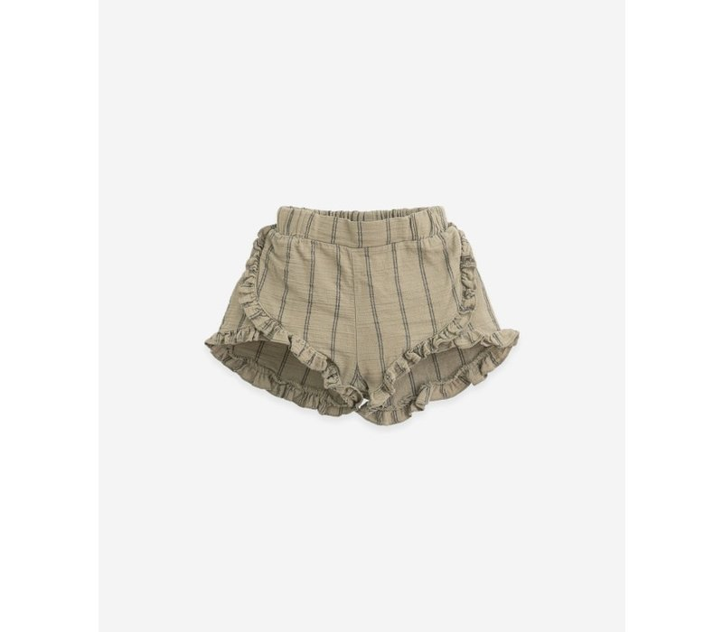 Play up - Striped woven shorts P7154