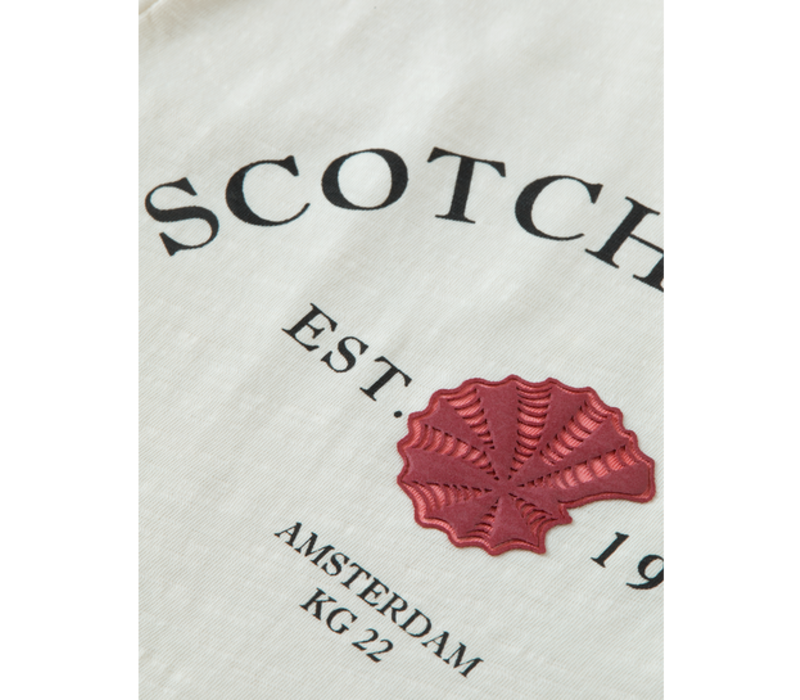 Scotch - Short sleeve tee with front tie 0001, 161306