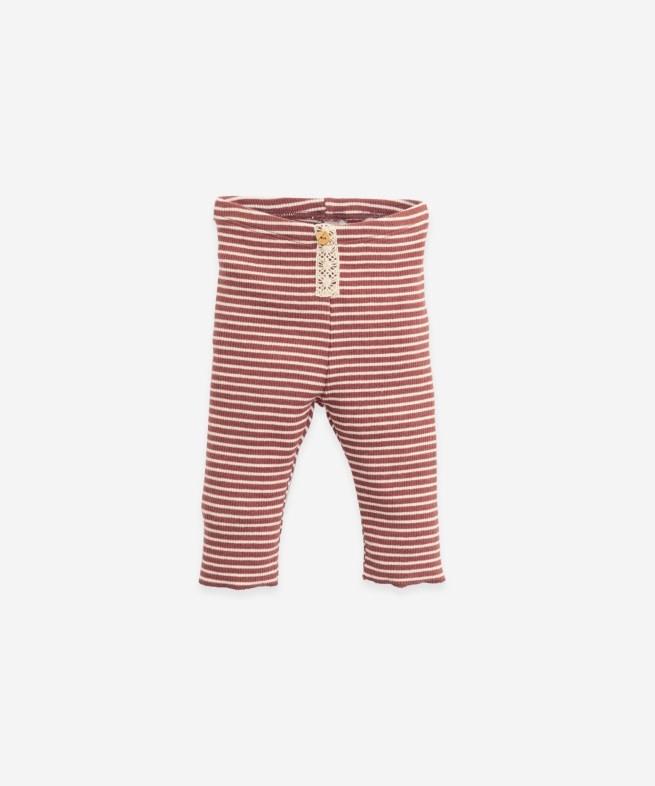 Play Up Play up - Striped rib leggings R258R