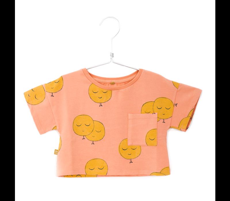 Lötiekids - Crop short sleeve sweatshirt moons salmon