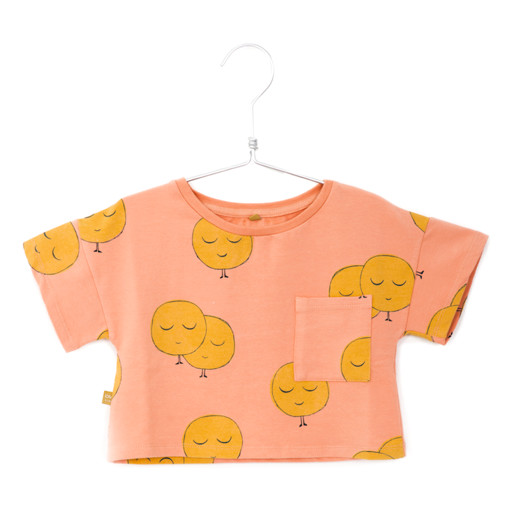 Lotiekids Lötiekids - Crop short sleeve sweatshirt moons salmon