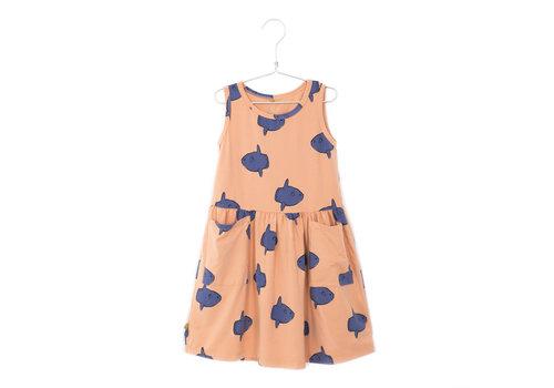 Lotiekids Lötiekids - Dress sleeveless pockets moonfish salmon - 1/2 year