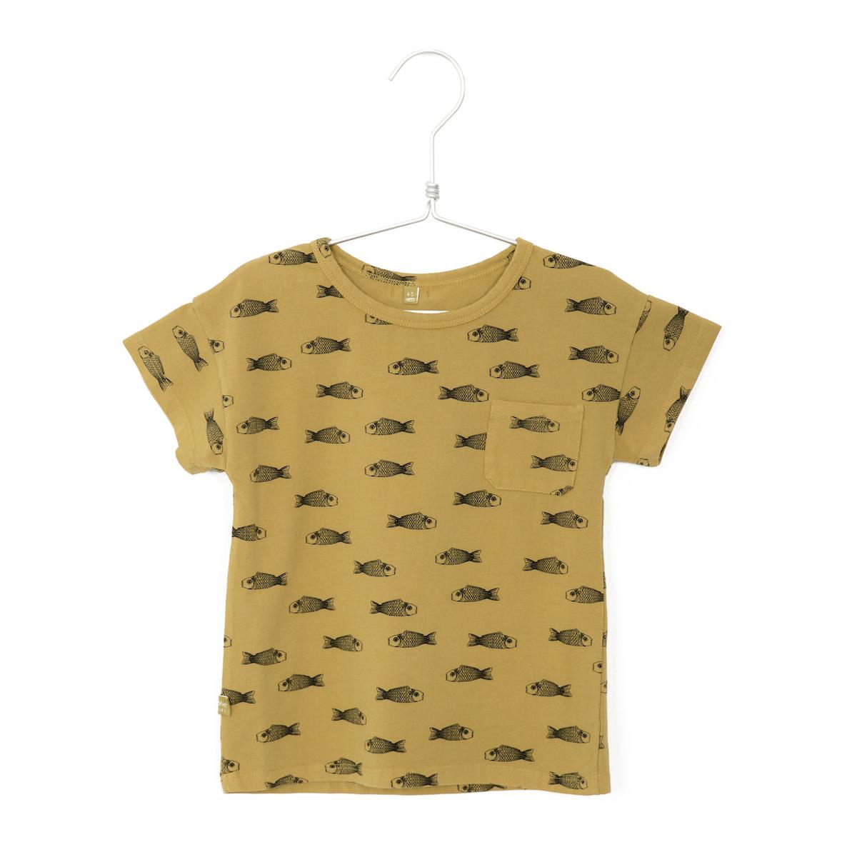 Lotiekids Lötiekids - T-shirt short sleeve fishes sun yellow