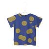 Lotiekids Lötiekids - T-shirt short sleeve moons indigo blue - 8/9 year