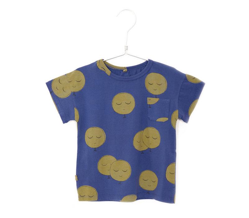 Lötiekids - T-shirt short sleeve moons indigo blue - 8/9 year