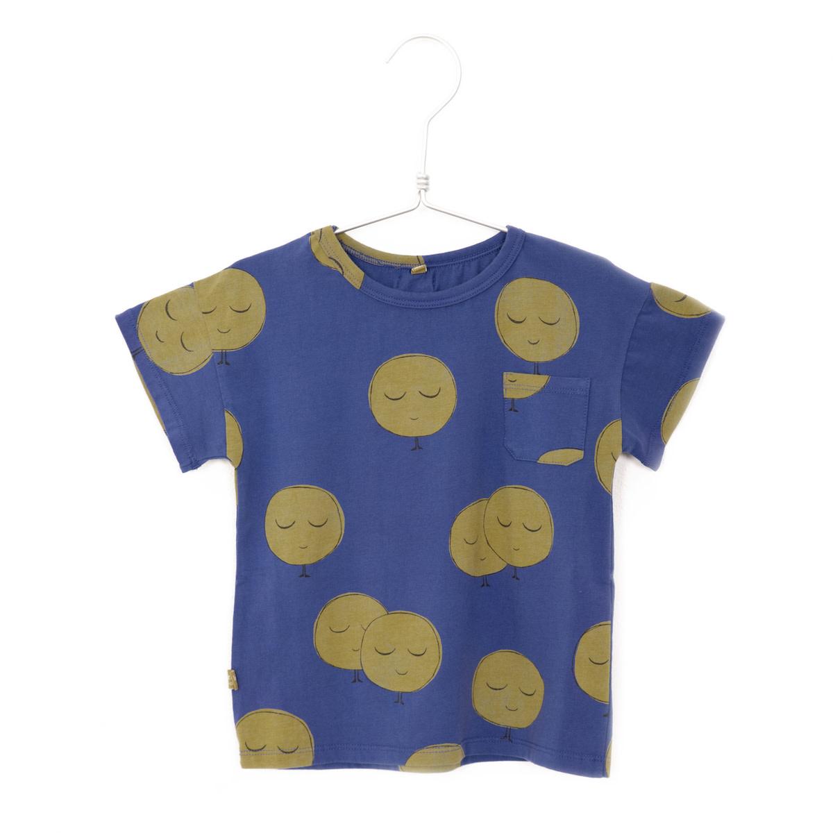 Lotiekids Lötiekids - T-shirt short sleeve moons indigo blue