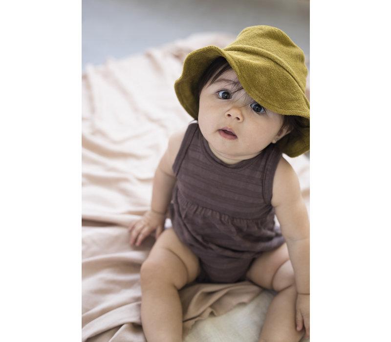 Phil & Phae - Bubble onesie tonal stripe heather - 0/3 month
